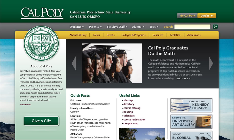 Cal Poly Home page