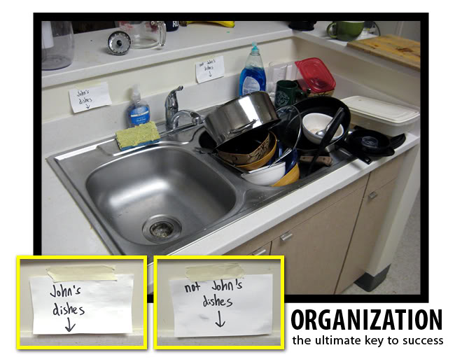 Organization: the ultimate key to success
