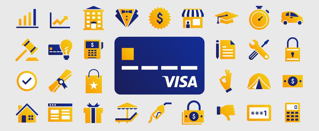 Visa Illustrated Icons