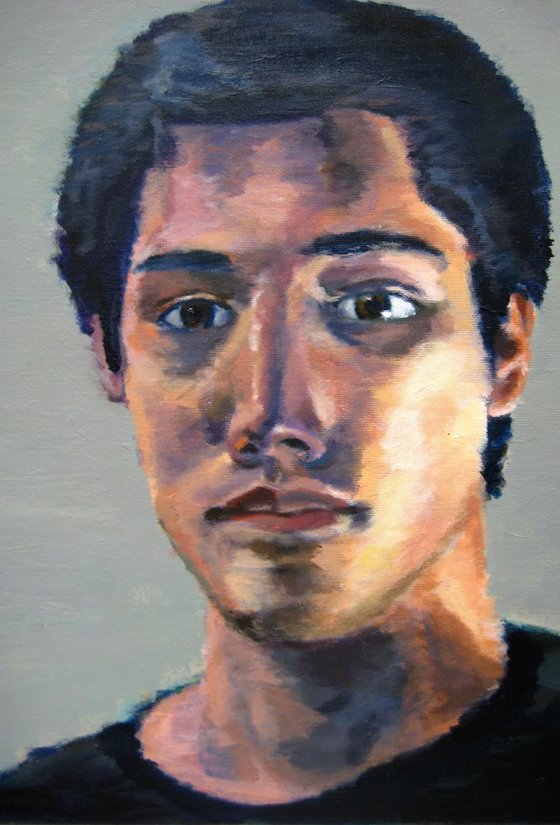 Self portrait, arcylic on canvas, 2010