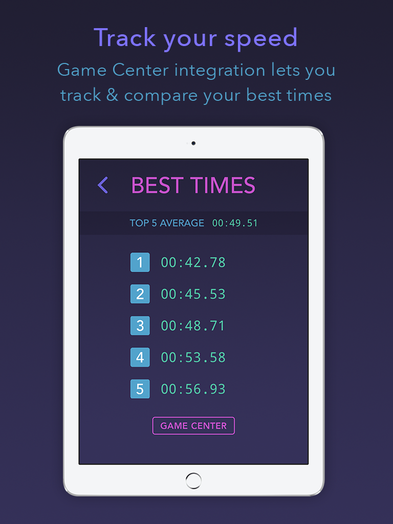 Fifteen puzzle app iPad best times