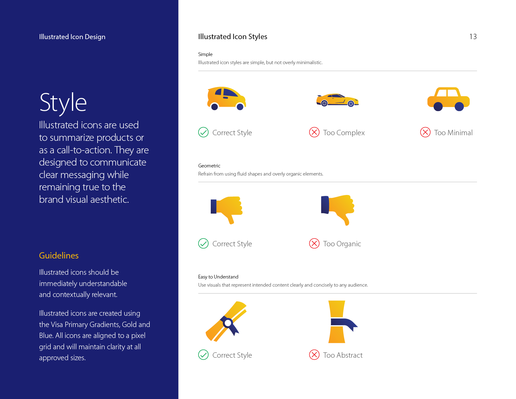 Visa illustrated icons style guide style overview